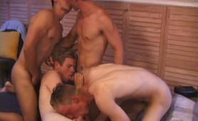 Four Boys Fucking Sex Orgy